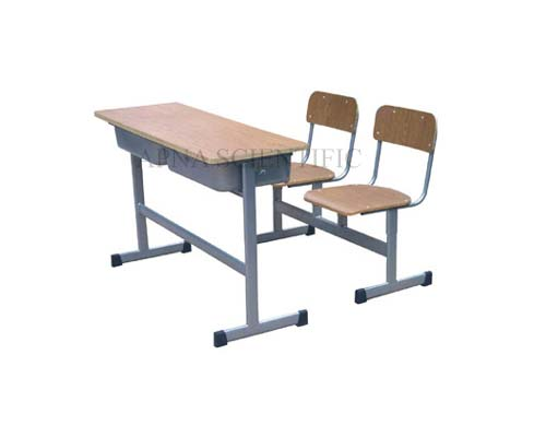 Classroom Furniture- Desk-Chairs Cum Desk Double Seating
