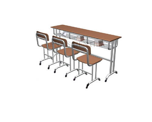 Classroom Furniture- Desk-Chairs Cum Desk Triple Seating