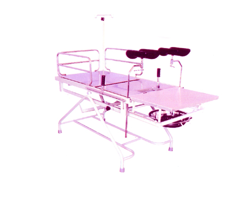 Obstetric labor table telescopic fixed height